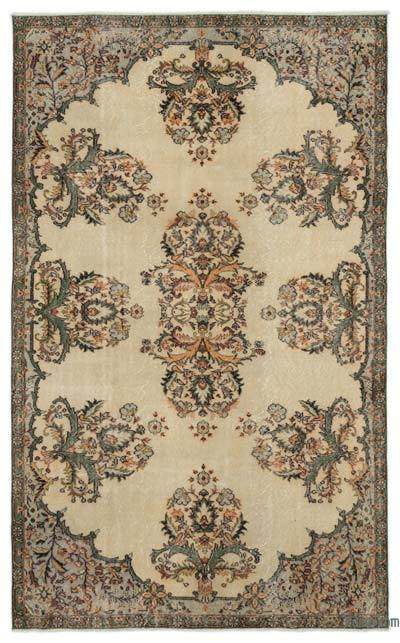 "Turkish Vintage Area Rug - 5'9"" x 9'4"" (69 in. x 112 in.)"