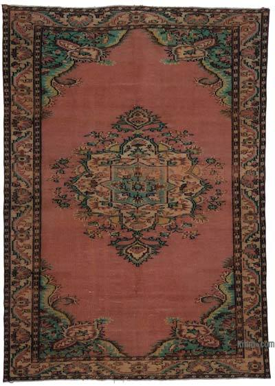 "Turkish Vintage Area Rug - 6'3"" x 8'8"" (75 in. x 104 in.)"
