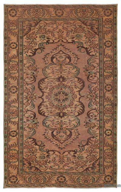 """Turkish Vintage Area Rug - 5'5"""" x 8'8"""" (65 in. x 104 in.)"""