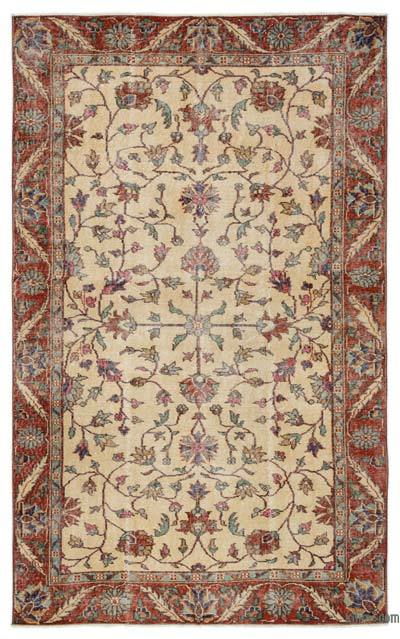 "Turkish Vintage Area Rug - 5'2"" x 8'6"" (62 in. x 102 in.)"