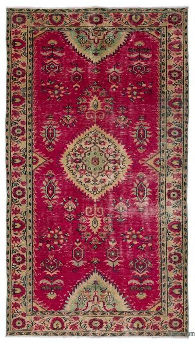 """Turkish Vintage Area Rug - 4' 8"""" x 8' 4"""" (56 in. x 100 in.)"""