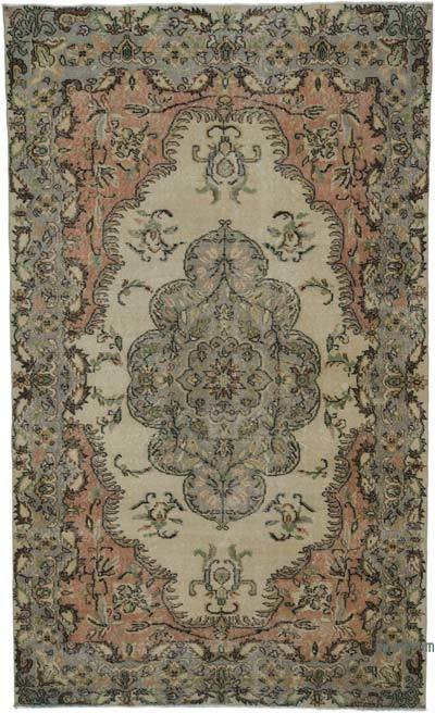 """Turkish Vintage Area Rug - 5' 8"""" x 9' 5"""" (68 in. x 113 in.)"""