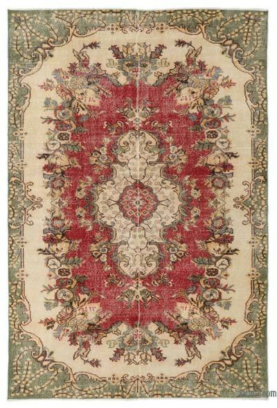 "Turkish Vintage Area Rug - 5'7"" x 8'5"" (67 in. x 101 in.)"