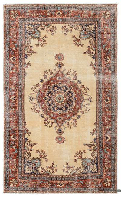 """Turkish Vintage Area Rug - 4'10"""" x 8' (58 in. x 96 in.)"""