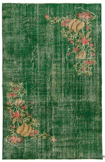 """Turkish Vintage Area Rug - 6'4"""" x 10' (76 in. x 120 in.)"""