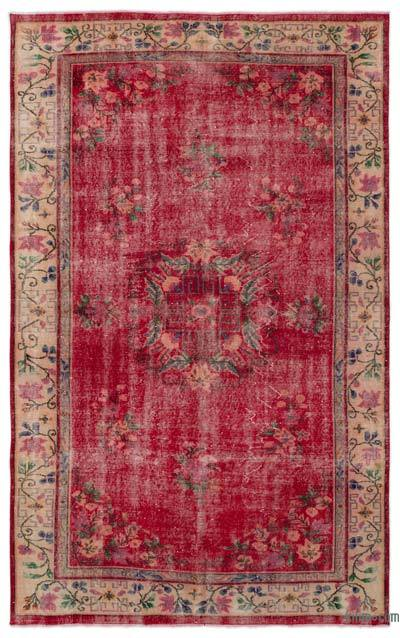 """Turkish Vintage Area Rug - 5' 10"""" x 9' 2"""" (70 in. x 110 in.)"""