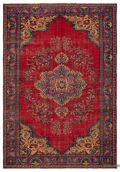 "Turkish Vintage Area Rug - 6'2"" x 8'8"" (74 in. x 104 in.)"