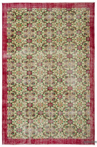 """Turkish Vintage Area Rug - 6'9"""" x 10'5"""" (81 in. x 125 in.)"""