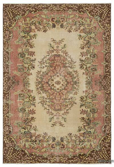 """Turkish Vintage Area Rug - 5' 7"""" x 8' 4"""" (67 in. x 100 in.)"""