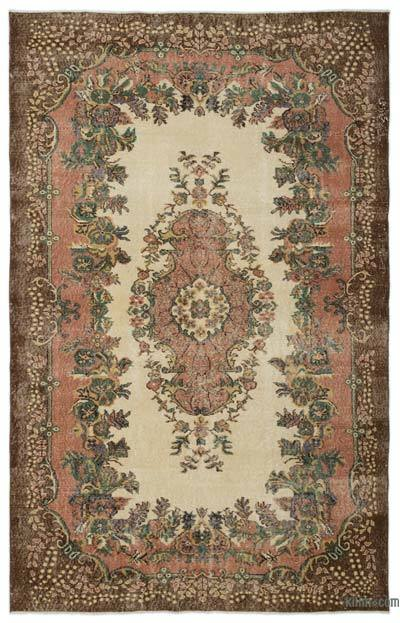 "Turkish Vintage Area Rug - 6'2"" x 9'7"" (74 in. x 115 in.)"