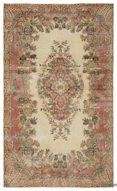 "Turkish Vintage Area Rug - 5'7"" x 9'4"" (67 in. x 112 in.)"