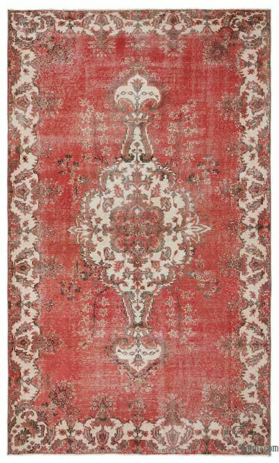 """Turkish Vintage Area Rug - 5'8"""" x 9'6"""" (68 in. x 114 in.)"""