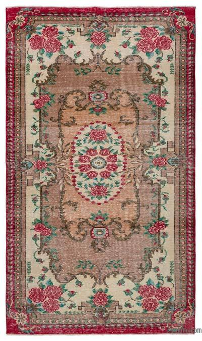 """Turkish Vintage Area Rug - 5'5"""" x 9'2"""" (65 in. x 110 in.)"""