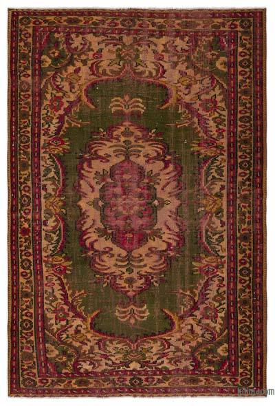 """Turkish Vintage Area Rug - 5'5"""" x 8'2"""" (65 in. x 98 in.)"""