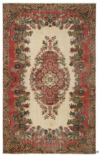 """Turkish Vintage Area Rug - 5' 7"""" x 9'  (67 in. x 108 in.)"""