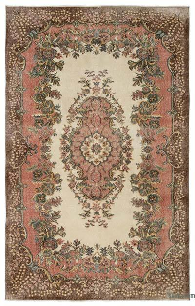 "Turkish Vintage Area Rug - 5'10"" x 9'2"" (70 in. x 110 in.)"
