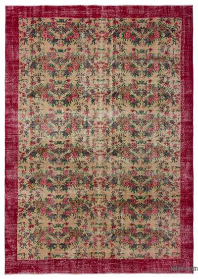 "Turkish Vintage Area Rug - 7'1"" x 10'2"" (85 in. x 122 in.)"