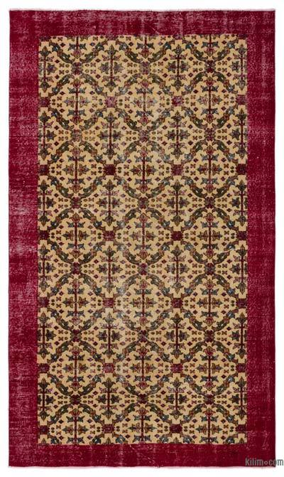"Turkish Vintage Area Rug - 5'3"" x 8'10"" (63 in. x 106 in.)"
