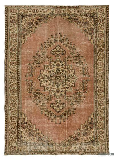 "Turkish Vintage Area Rug - 6'1"" x 8'11"" (73 in. x 107 in.)"