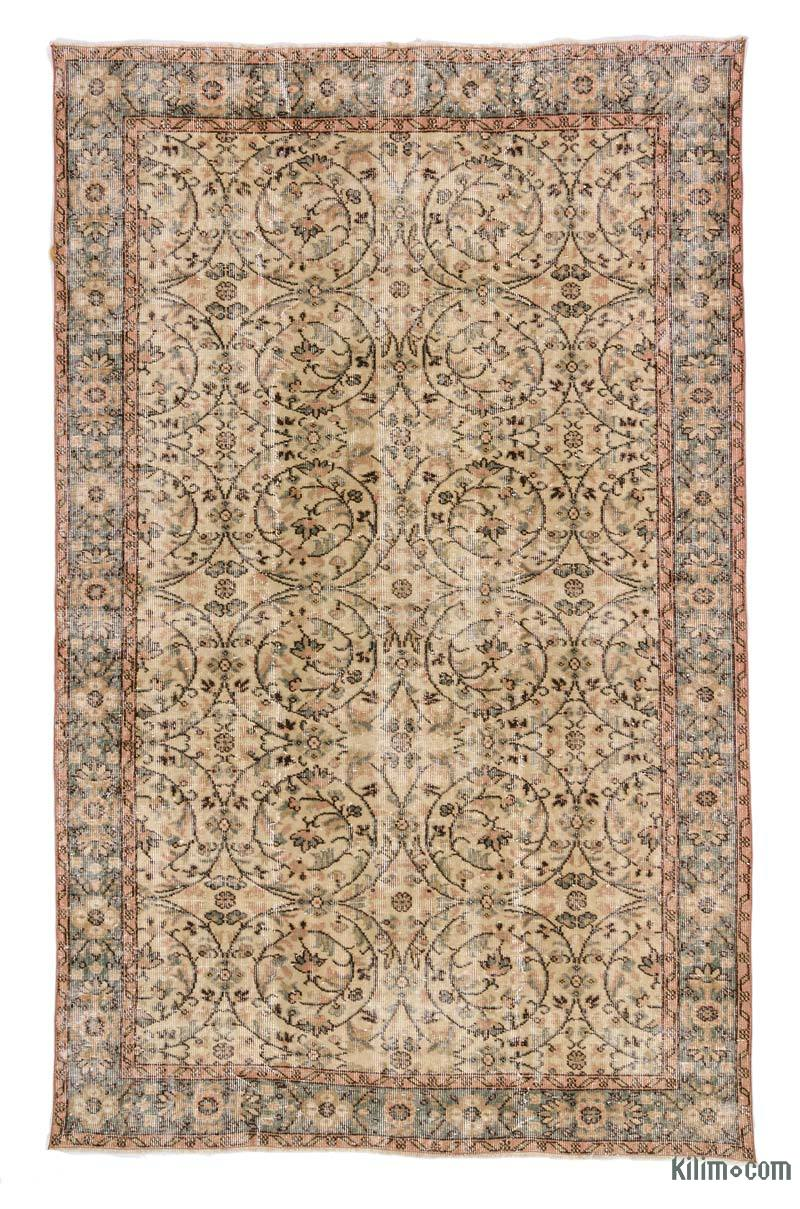 """Vintage Turkish Hand-Knotted Rug - 5' 7"""" x 8' 11"""" (67 in. x 107 in.) - K0023033"""