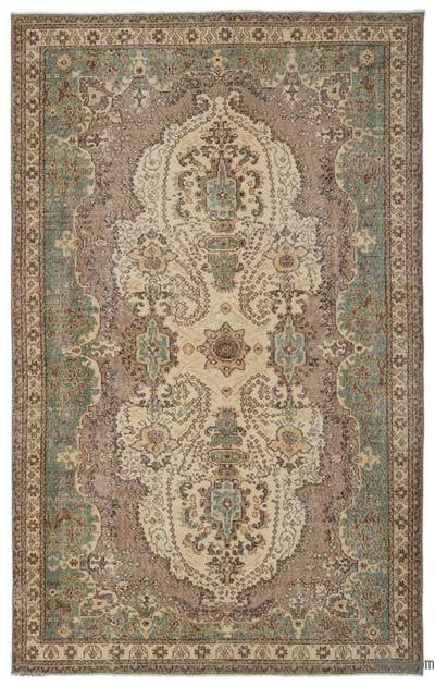 """Turkish Vintage Area Rug - 6' 6"""" x 10' 4"""" (78 in. x 124 in.)"""