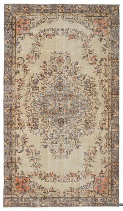 "Turkish Vintage Area Rug - 5'4"" x 9'5"" (64 in. x 113 in.)"