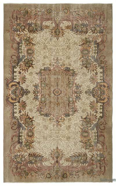 """Turkish Vintage Area Rug - 5'10"""" x 9'4"""" (70 in. x 112 in.)"""