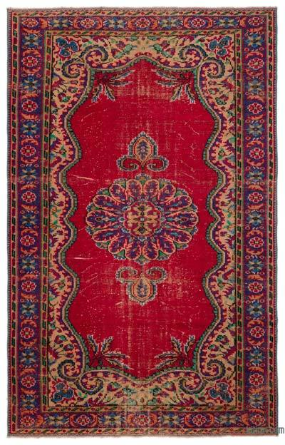 "Turkish Vintage Area Rug - 6'6"" x 10'2"" (78 in. x 122 in.)"