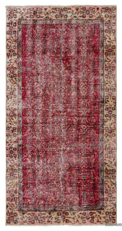 """Turkish Vintage Area Rug - 3'5"""" x 6'11"""" (41 in. x 83 in.)"""