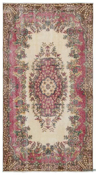 "Turkish Vintage Area Rug - 3'9"" x 6'11"" (45 in. x 83 in.)"