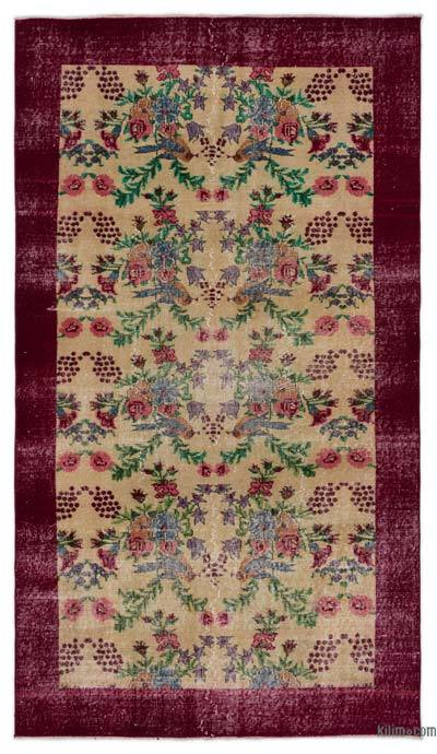 """Turkish Vintage Area Rug - 4'6"""" x 8' (54 in. x 96 in.)"""