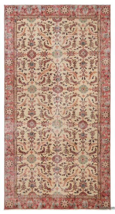 """Turkish Vintage Area Rug - 4'8"""" x 8'10"""" (56 in. x 106 in.)"""