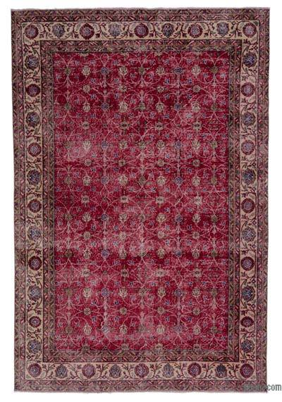"Turkish Vintage Area Rug - 6'9"" x 9'11"" (81 in. x 119 in.)"