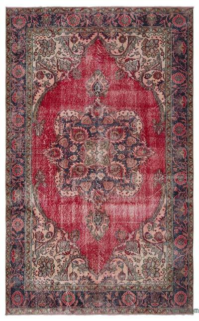 "Turkish Vintage Area Rug - 6'4"" x 10' (76 in. x 120 in.)"