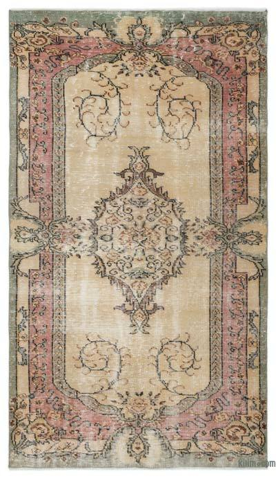 "Turkish Vintage Area Rug - 5'1"" x 9' (61 in. x 108 in.)"
