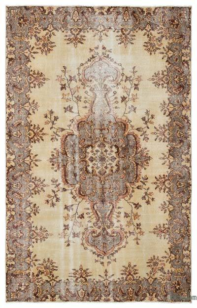 "Turkish Vintage Area Rug - 5'5"" x 8'7"" (65 in. x 103 in.)"