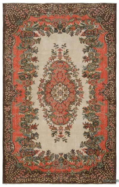 """Turkish Vintage Area Rug - 6'6"""" x 10'1"""" (78 in. x 121 in.)"""
