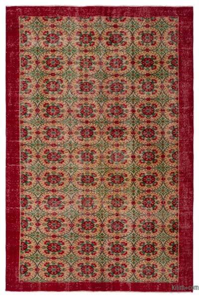 El Dokuma Vintage Halı - 178 cm x 266 cm