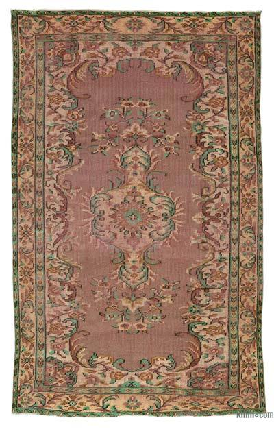 "Turkish Vintage Area Rug - 5' 2"" x 8' 8"" (62 in. x 104 in.)"