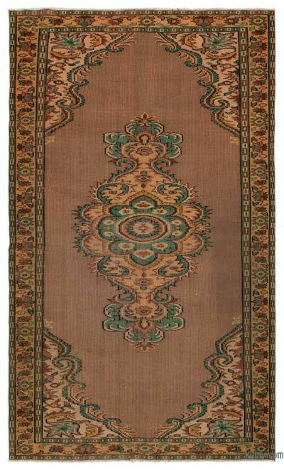 "Turkish Vintage Area Rug - 5'2"" x 8'10"" (62 in. x 106 in.)"