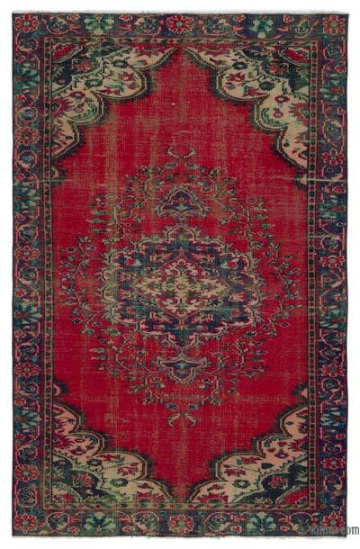 """Turkish Vintage Area Rug - 5'6"""" x 8'2"""" (66 in. x 98 in.)"""