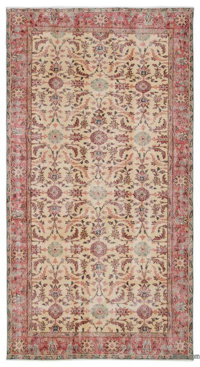"""Turkish Vintage Area Rug - 5'2"""" x 9'3"""" (62 in. x 111 in.)"""