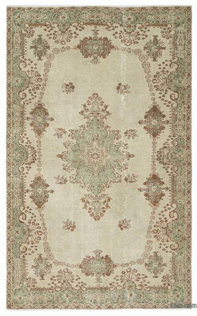"""Turkish Vintage Area Rug - 5'9"""" x 9'1"""" (69 in. x 109 in.)"""