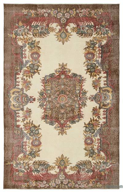 """Turkish Vintage Area Rug - 5'8"""" x 8'10"""" (68 in. x 106 in.)"""