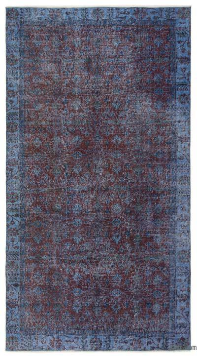 """Over-dyed Turkish Vintage Rug - 5' 1"""" x 9' 3"""" (61 in. x 111 in.)"""
