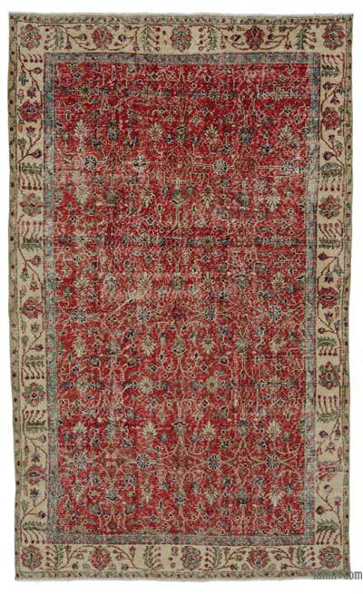 """Turkish Vintage Area Rug - 5'1"""" x 8'8"""" (61 in. x 104 in.)"""
