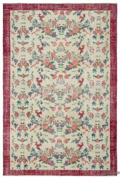 "Turkish Vintage Area Rug - 6'8"" x 10' (80 in. x 120 in.)"