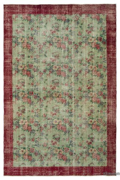 "Turkish Vintage Area Rug - 6'3"" x 9'8"" (75 in. x 116 in.)"