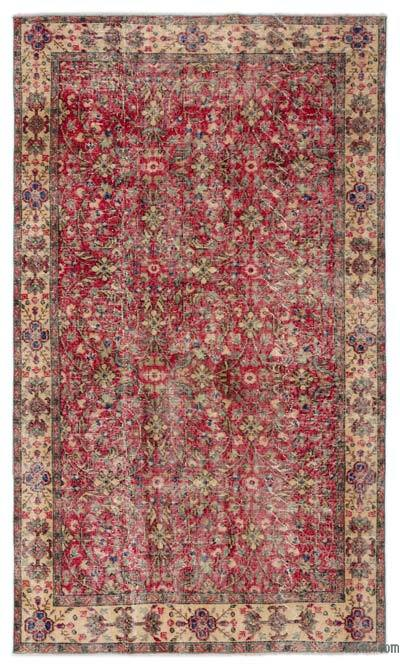 "Turkish Vintage Area Rug - 4'9"" x 8'2"" (57 in. x 98 in.)"