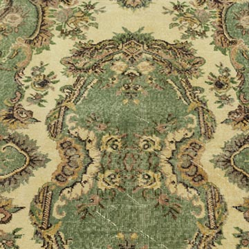 """Vintage Turkish Hand-Knotted Rug - 5' 5"""" x 8' 11"""" (65 in. x 107 in.) - K0023347"""